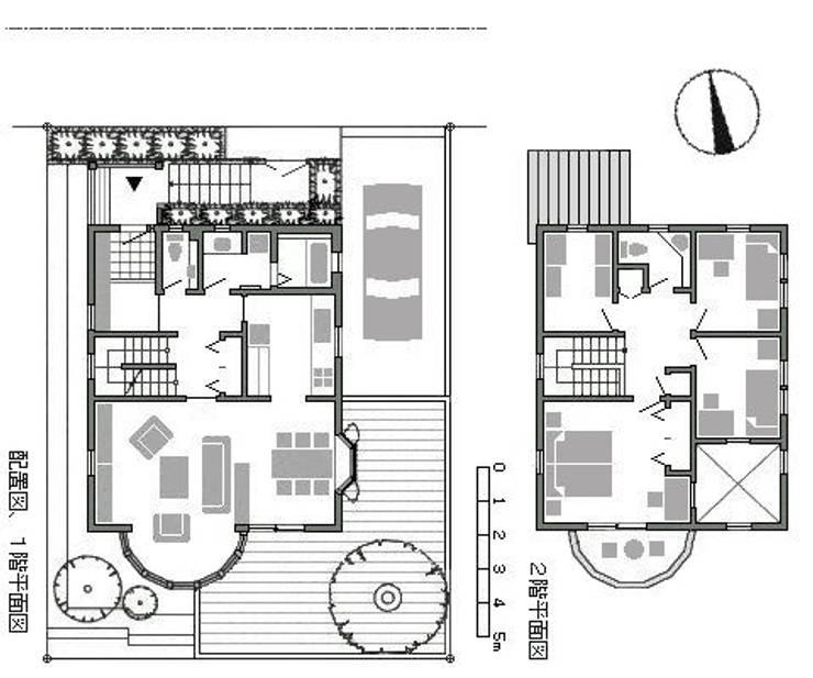 住宅平面図: 百々堂 磁器製造所 DoDoDo Porcelain Manufactureが手掛けたです。