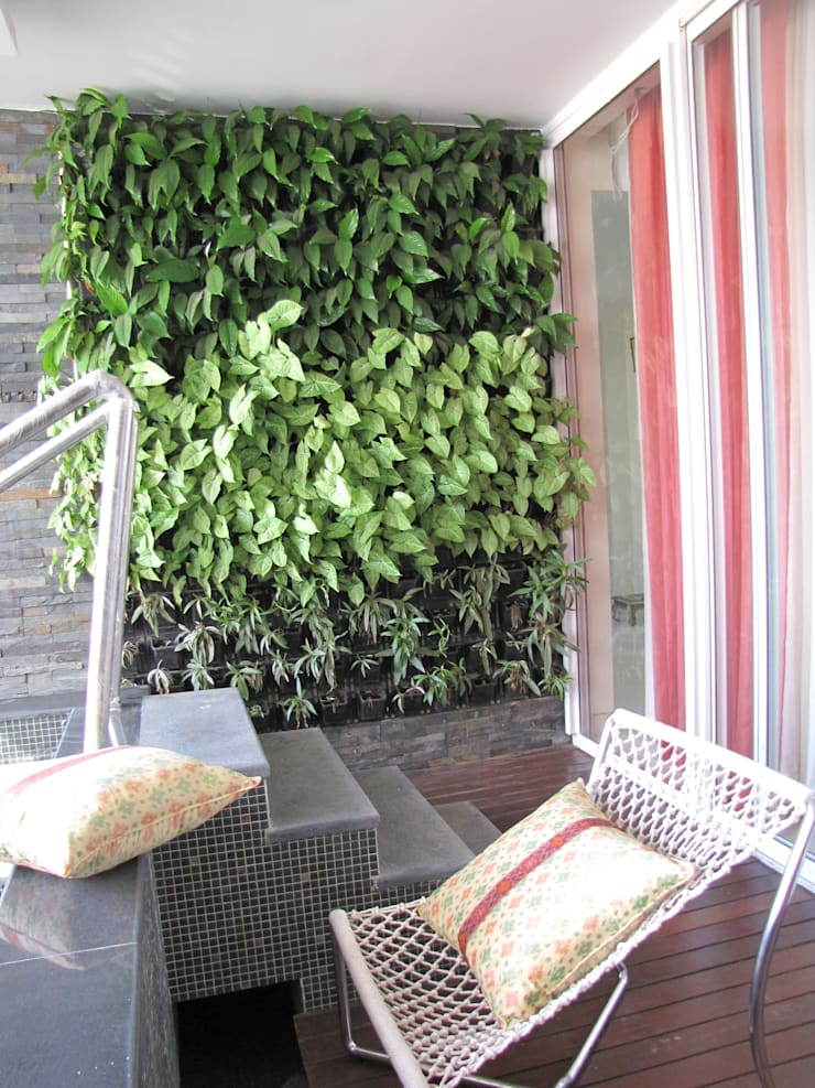 Intriguing Ikats:  Terrace by TUNI Interiors Pvt. Ltd. ,Asian