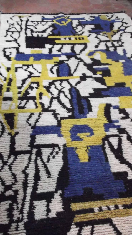 berber wool boujad carpet: mediterranean Dining room by BOHOZOO