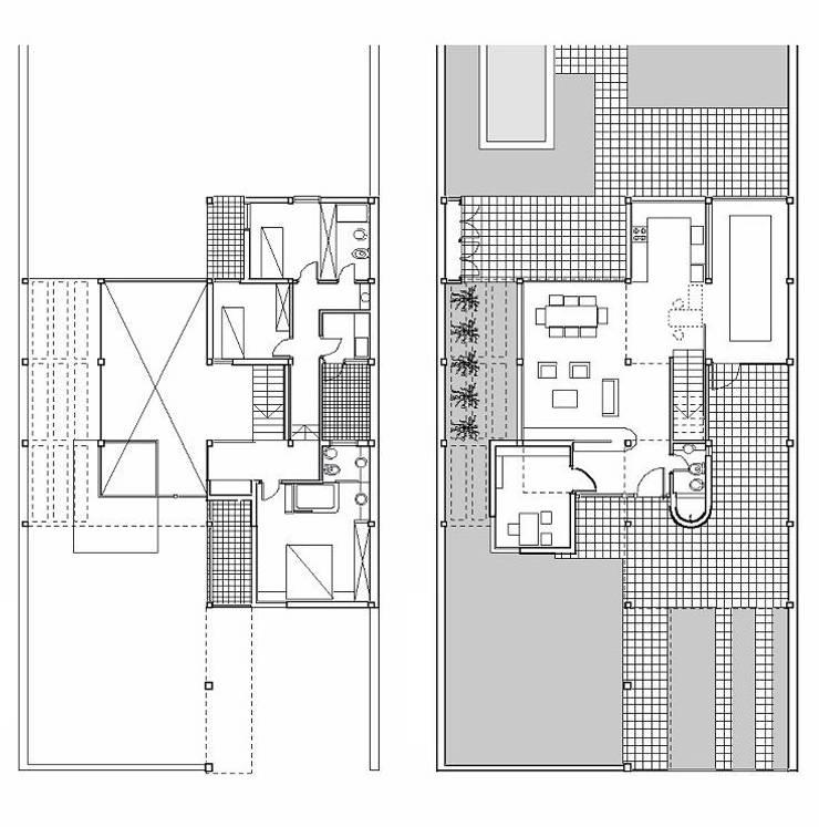 Vivienda Marcela y Horacio.: Casas de estilo  por Andrés Moroni  Arquitecto,
