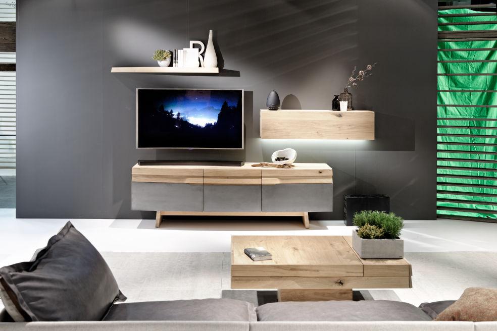 Basse Haut Meuble Chêne Et Table En MassifDesign De Tv Gamme HWIbD9YeE2