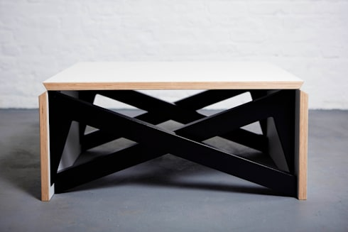 MK1 TRANSFORMING COFFEE TABLE WOOD by Duffy London homify