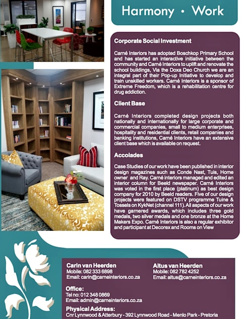 Company Profile by Carne Interiors homify