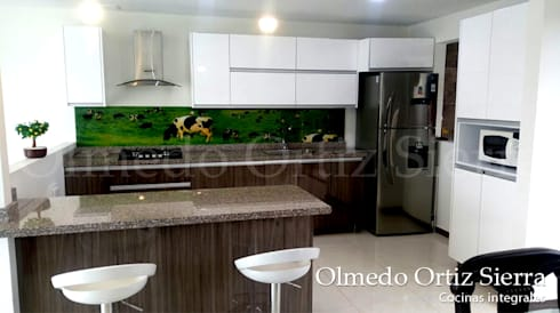 Cocina Moderna de Cocinas Integrales Olmedo Ortiz Sierra homify