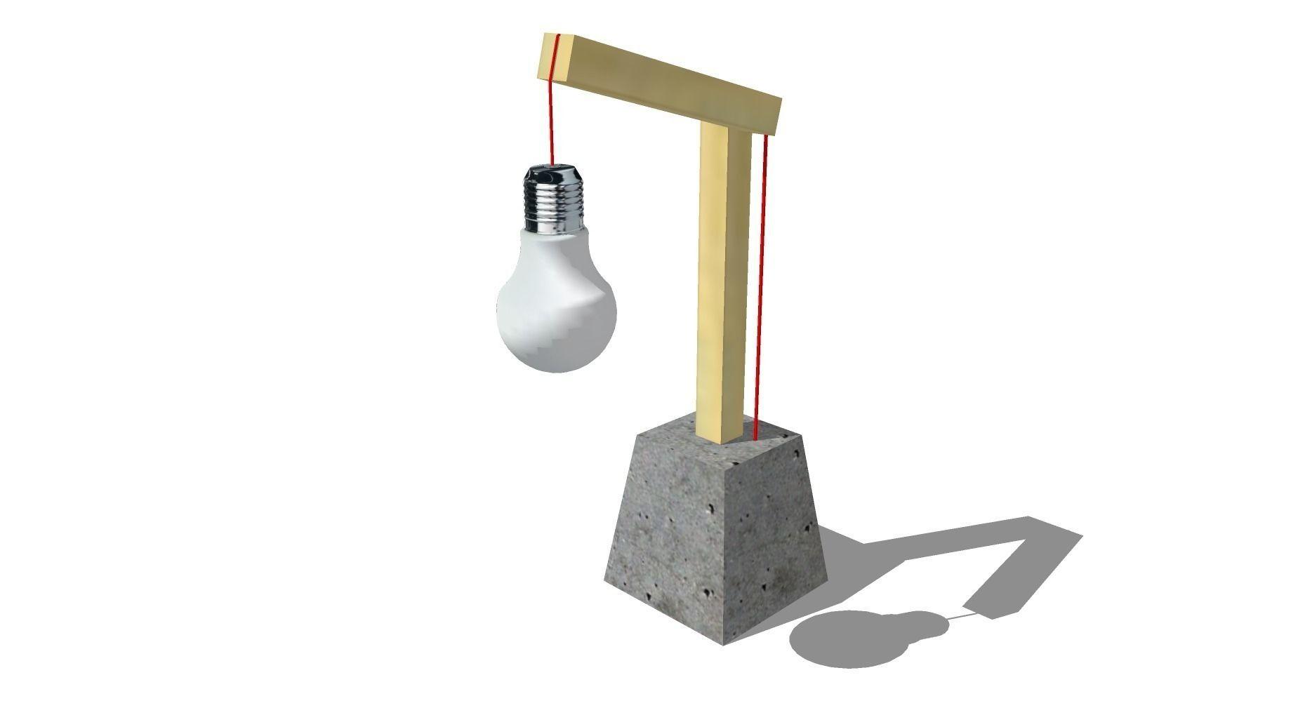 Atelier AmHomify Béton Bois Par Lampe Design 9W2IEHD