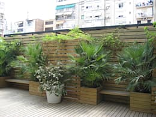 18 jardineras de madera para exteriores