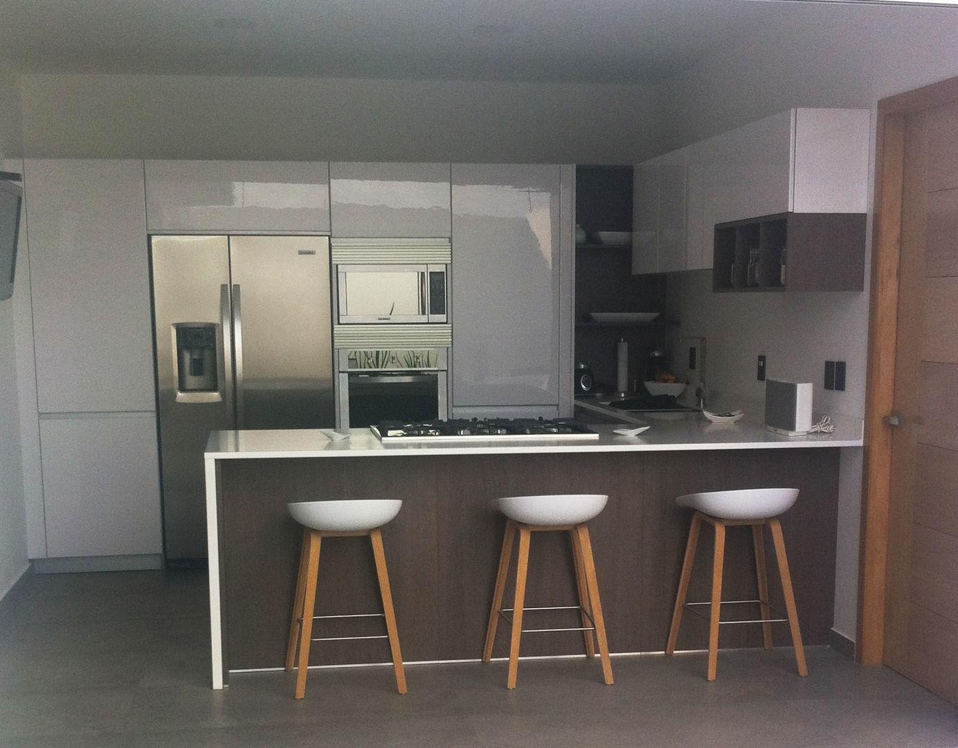 Cocinas pequeas minimalistas tendencias 2018