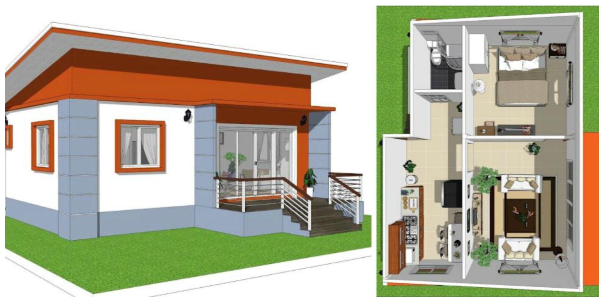2 casas pequeas y econmicas con sus planos