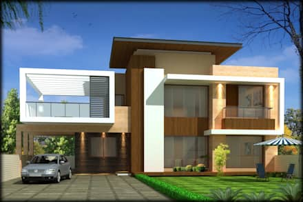 Modern style house design ideas pictures homify for Homes pictures