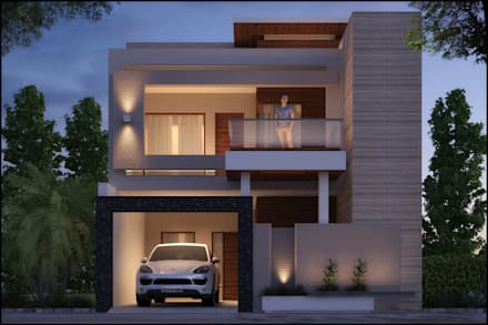 Modern style house design ideas pictures homify for Modern triplex house designs