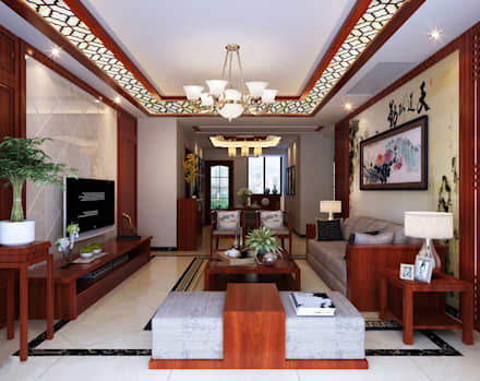 chinese style living room ceiling