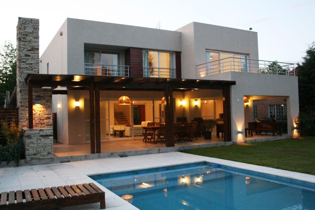 Casa en country c u b a fatima pcia de buenos aires casas de estilo moderno por rocha - Casas modulares diseno moderno ...