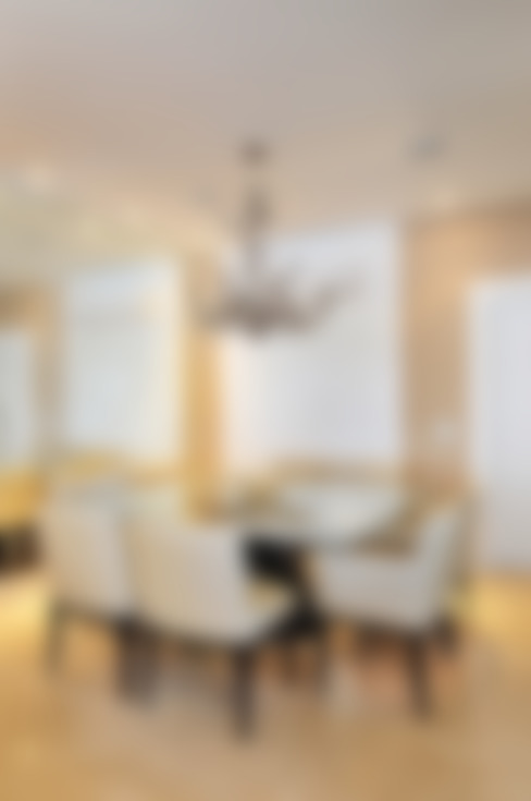 Projeto Identidade Brasileira - Sala de Jantar: Salas de estar  por Adriana Scartaris: Design e Interiores em São Paulo