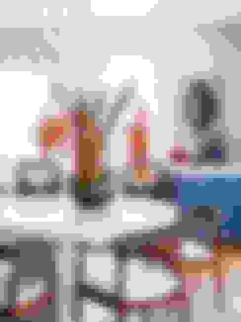 Residência Canário: Salas de jantar  por Mauricio Arruda Design