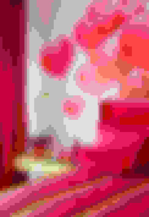 Apartamento Colorido - Depois: Quartos  por Brunete Fraccaroli Arquitetura e Interiores