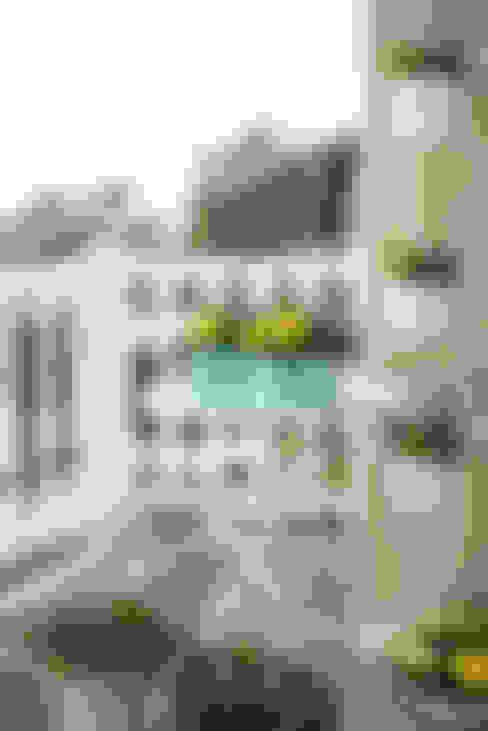 Varanda, alpendre e terraço  por Pflanzenfreude.de