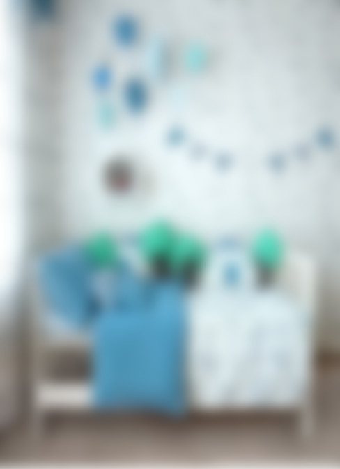 WOORI ZIP BEDDING (BLUE): jumine의  아이방