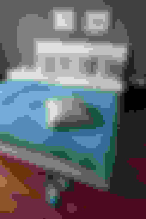 poduszki ze wzorem Lachów sądeckich: styl , w kategorii Sypialnia zaprojektowany przez MAQUDESIGN