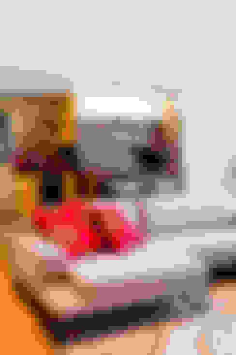 Apartamento Vila Nova Conceição : Salas de estar  por Asenne Arquitetura