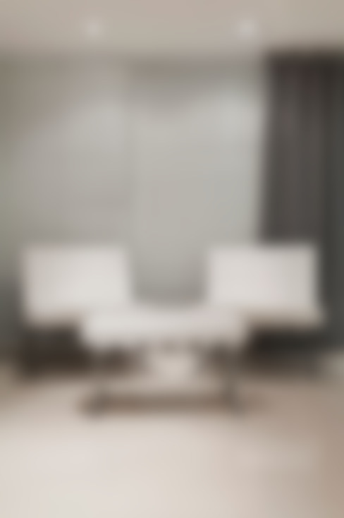 Living em Preto Branco e Cinza: Escritórios  por marli lima designer de interiores