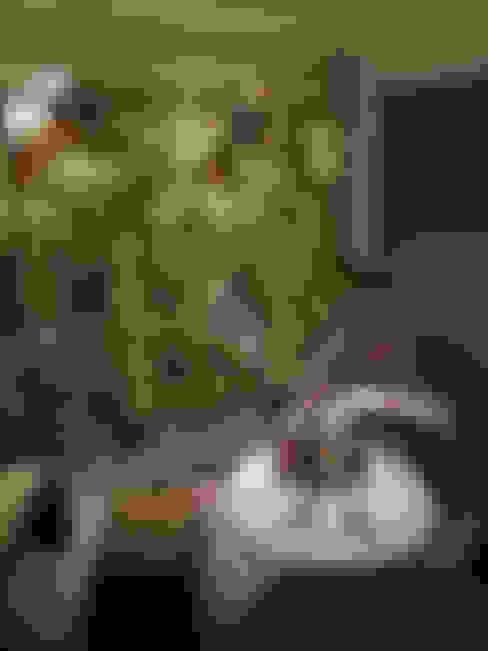 HOME+OFFICE+HOME : Varanda, alpendre e terraço  por Fabio Pantaleão Arquitetura+Interiores