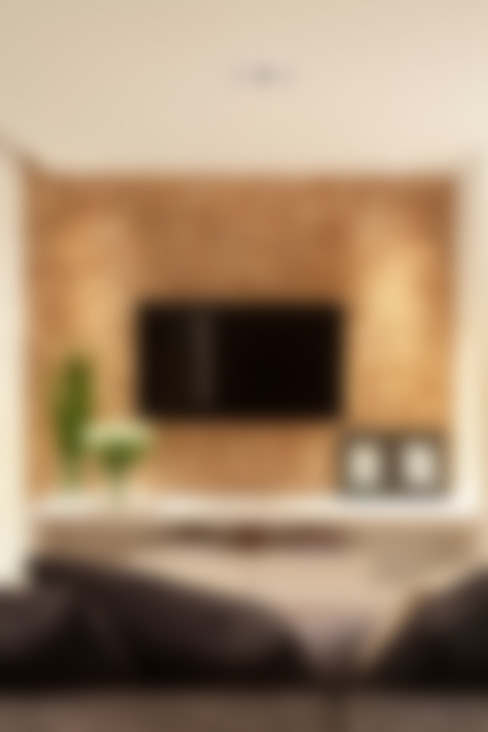 Apartamento na Pompeia, São Paulo: Salas de estar  por Liliana Zenaro Interiores