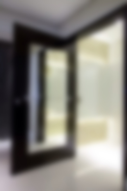 263d0b65f Apartamento MJ: Corredores e halls de entrada por Maluf & Ferraz interiores