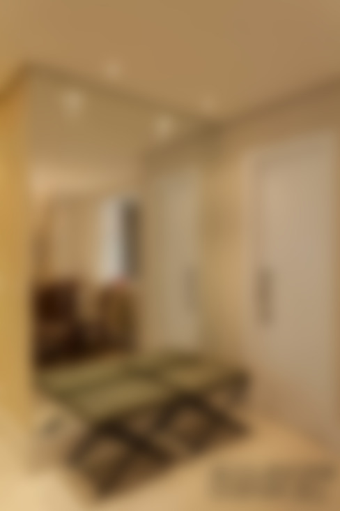 Corridor, hallway & stairs تنفيذ Martins Valente Arquitetura e Interiores