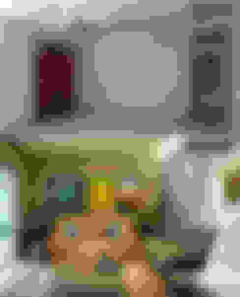 Antes e Depois Sala de Estar: Salas de estar  por CARDOSO CHOUZA ARQUITETOS