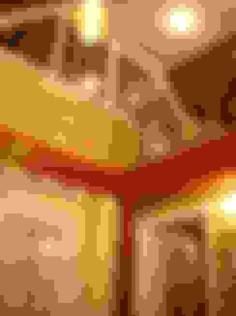 Баня на Николиной Горе: Гостиная в . Автор – архитектурная мастерская МАРТ