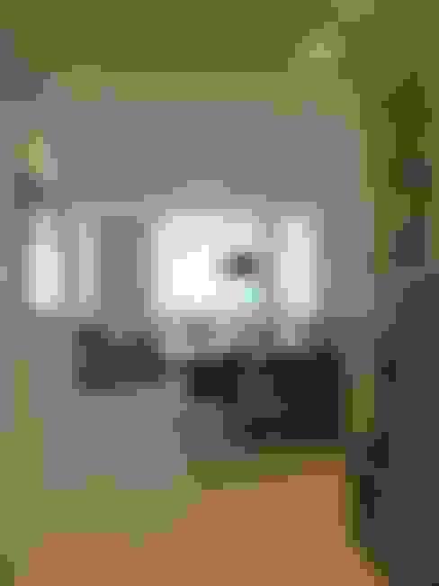 Sala de estar e sala de jantar: Salas de jantar  por Maria Helena Torres Arquitetura e Design