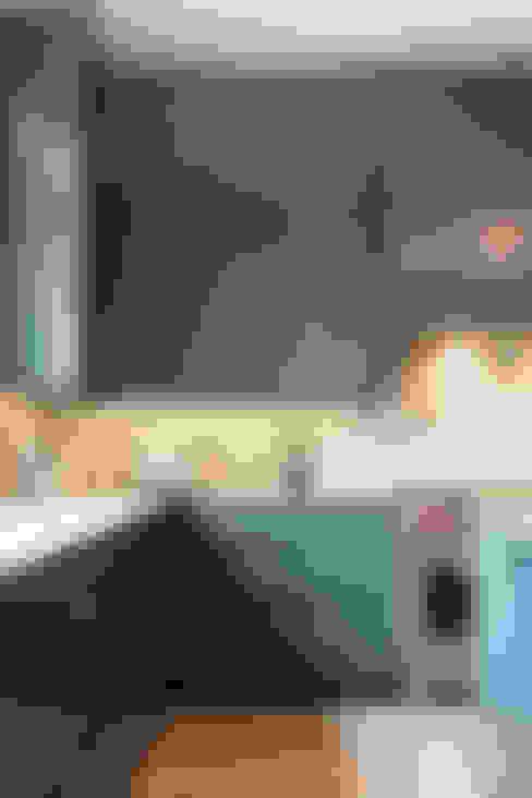 مطبخ تنفيذ FLUID LIVING STUDIO