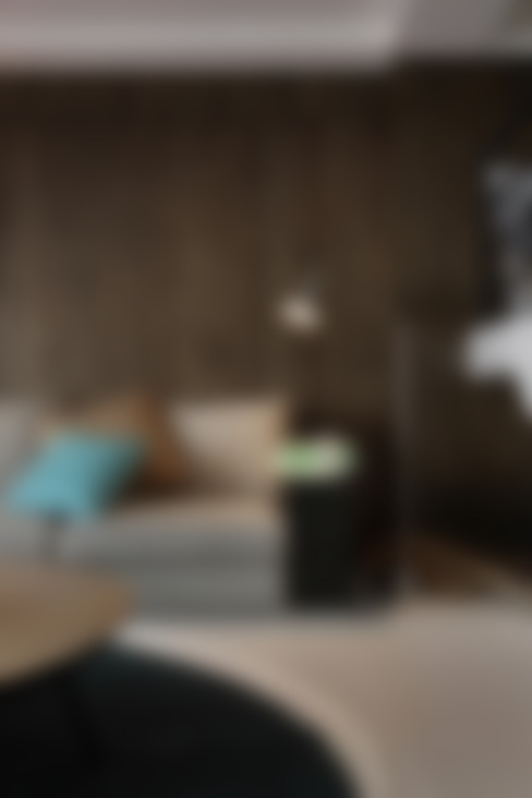 新東風時尚 仿飾頂級酒店的簡約奢華:  客廳 by Luova 創研俬.集