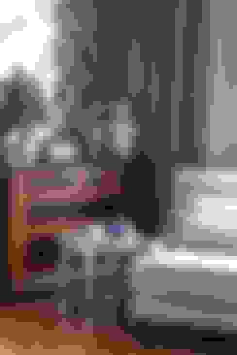 غرفة نوم تنفيذ Dots&points interior design studio