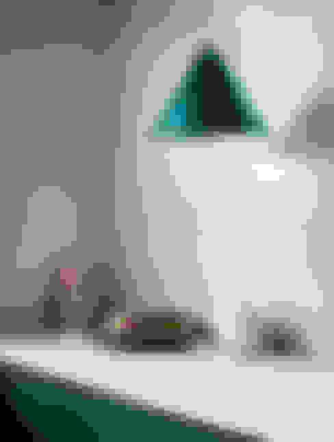 Keuken met Marrakech Walls in de kleur Polar Blue:  Keuken door Pure & Original