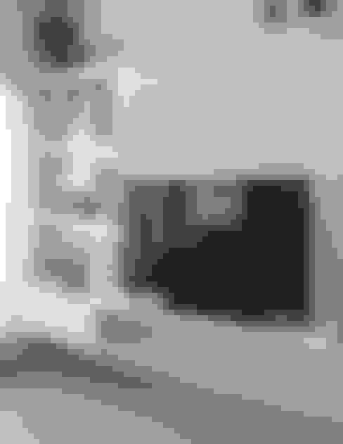 Obra Los Incas - Diseño Integral depto. 2 ambientes: Livings de estilo  por Bhavana