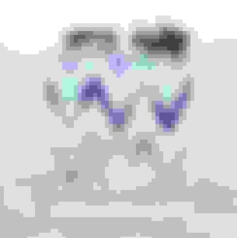 Vinil formas geométricas azul : Casa  por GoodVinil