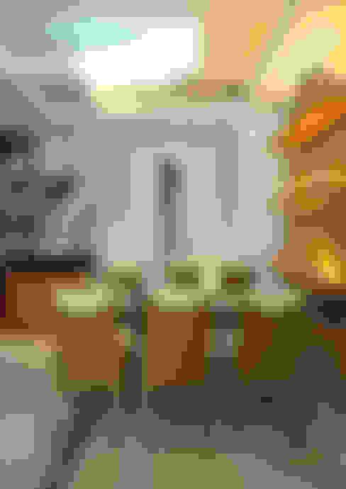 Độc Đáo Với Nhà Phố 3 Tầng Đẹp Có Thiết Kế Hồ Bơi Trên Sân Thượng :  Phòng ăn by Công ty TNHH Xây Dựng TM – DV Song Phát