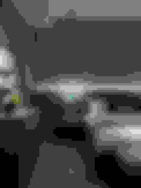 天母泳池別墅會所:  臥室 by ACE 空間制作所