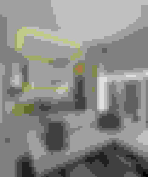 Kitchen Set dan Ruang Makan:  Ruang Keluarga by CASA.ID ARCHITECTS