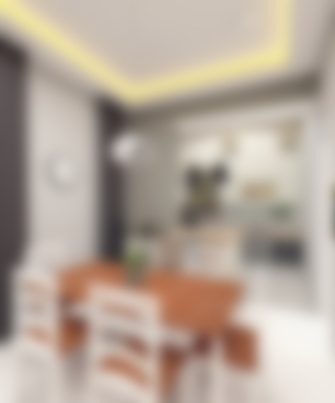 SCANDINAVIAN MOOD DESIGN:  Ruang Makan by CASA.ID ARCHITECTS