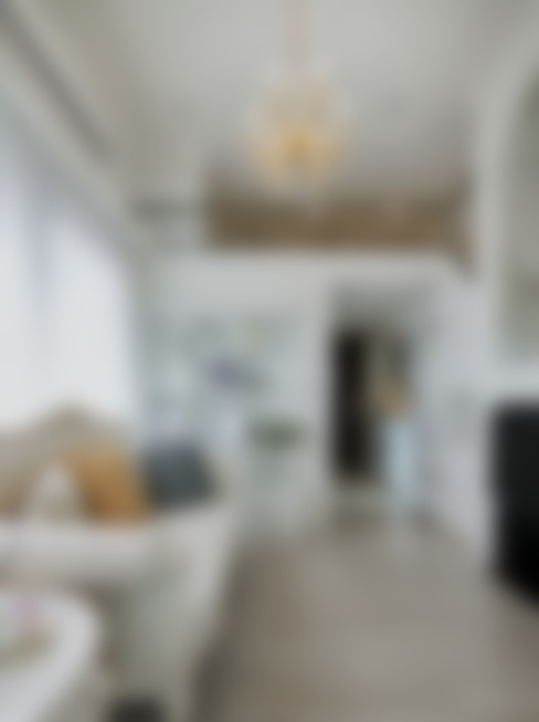 仰望-七坪 三房一廳一衛 古典唯美居家:  小廚房 by 酒窩設計 Dimple Interior Design