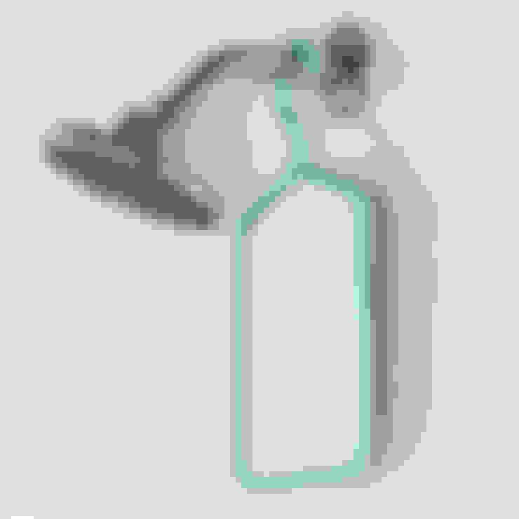 Зеркало с вешалкой голубое: Ванная комната в . Автор – Enjoyme