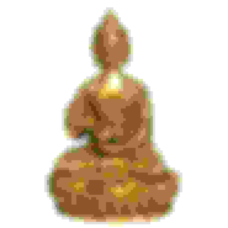 Green Brass Buddha Sculpture:  Artwork by M4design
