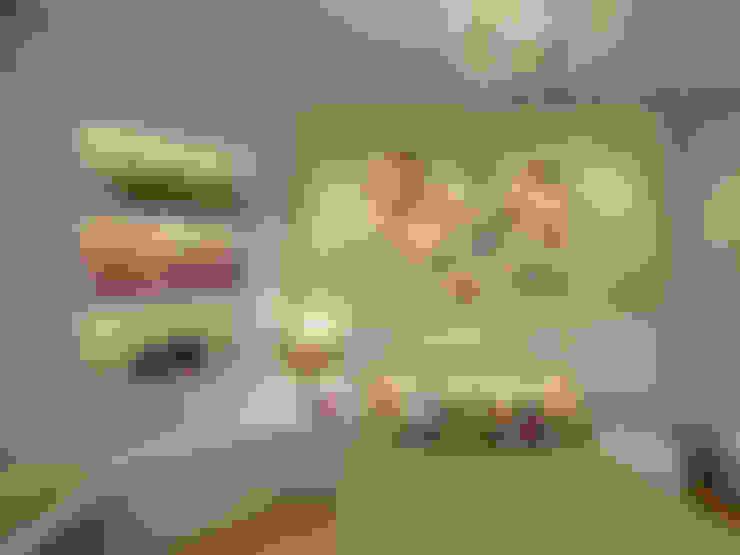 غرفة نوم تنفيذ Konverto Interiores + Arquitetura