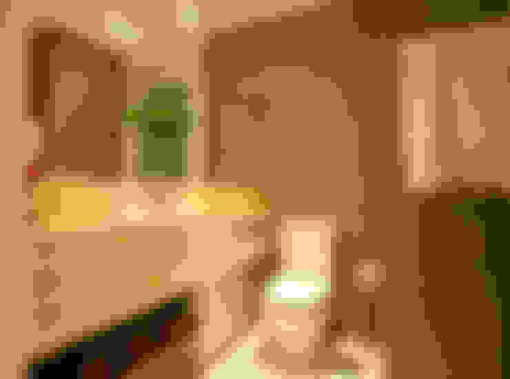 BANHO SOCIAL : Salas de estar  por Leles Arquitetura e Iluminação
