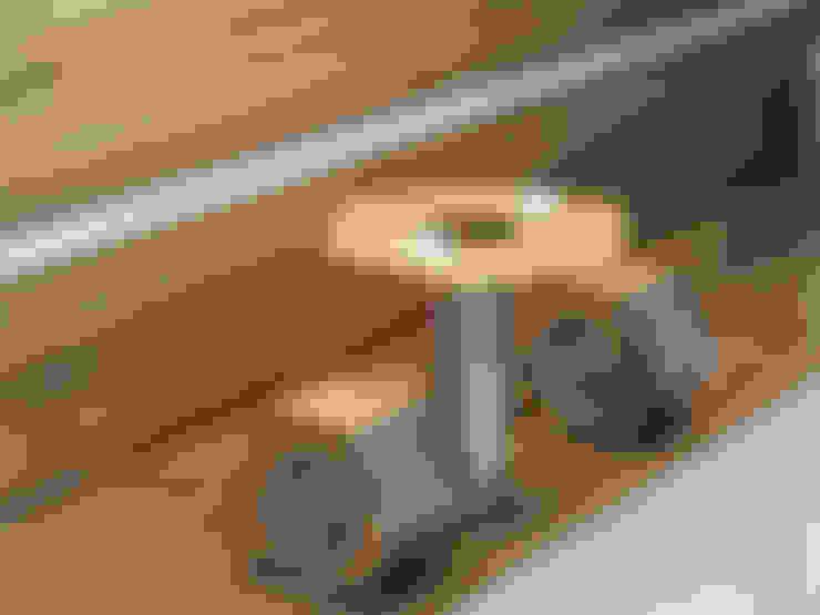 Nut & Bolt Coffee table:  Balconies, verandas & terraces  by Preetham  Interior Designer