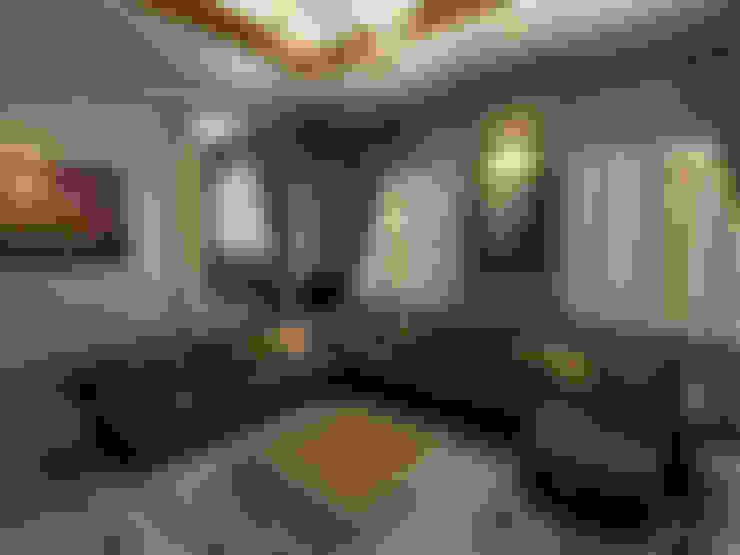 m. rezan özge özdemir – Villa iç tasarımı-oturma odası:  tarz Oturma Odası