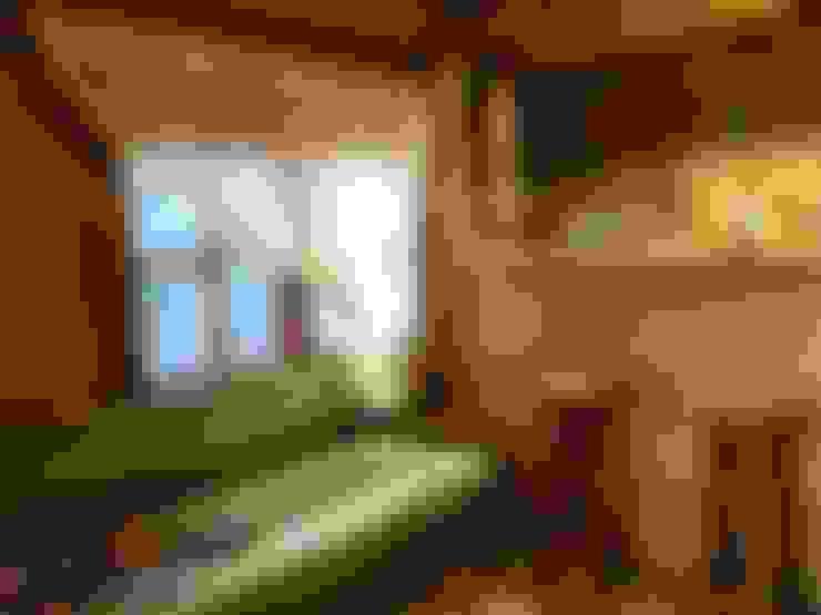 Tabiat Ahşap Tasarım ve Uygulama San. Tic. Ltd. Şti – ahşap ev içi görünüm:  tarz Oturma Odası
