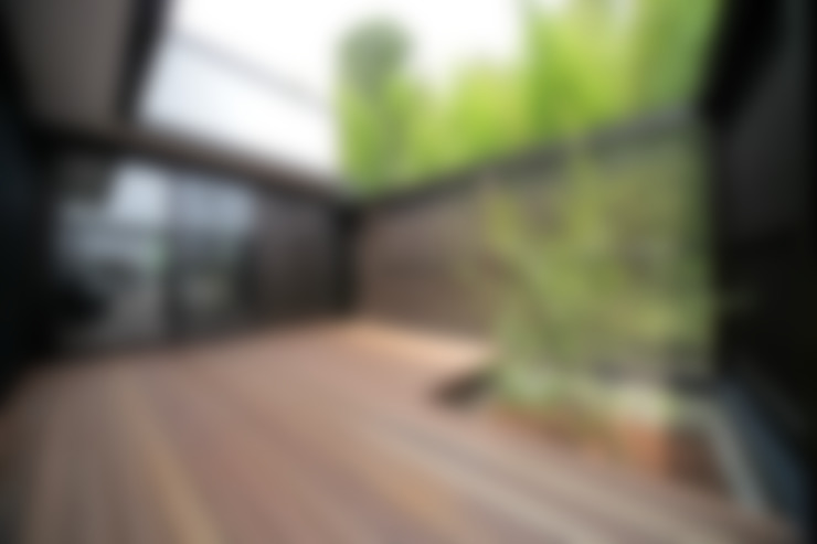 ระเบียง, นอกชาน by ㈱カナザワ建築設計事務所/KANAZAWA Architects Design Office